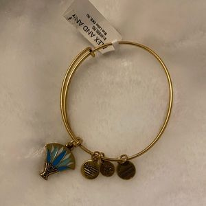 Alex and Ani Blue Lotus Charm Bangle NWT